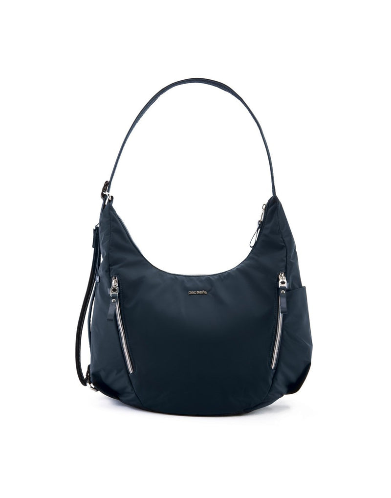 Pacsafe stylesafe anti-theft convertible navy colour crossbody bag front view