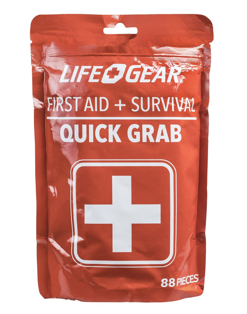 Life Gear Quick Grab First Aid + Survival Pack