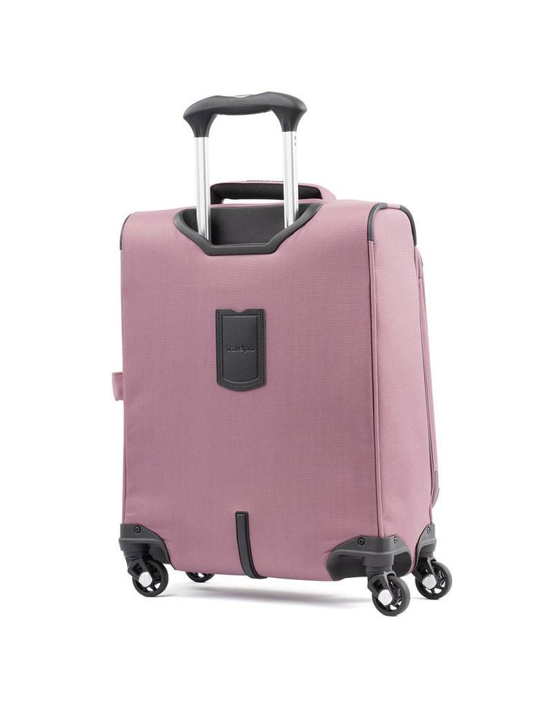 "Travelpro maxlite 5 19"" intl spinner dusty rose colour luggage bag back view"