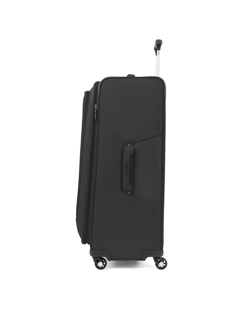 "Travelpro maxlite 5 29"" exp spinner black colour luggage bag side view"