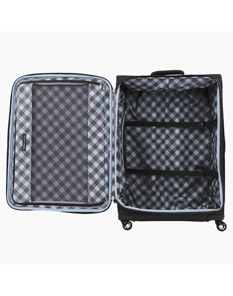"Travelpro maxlite 5 29"" exp spinner black colour luggage bag interior"