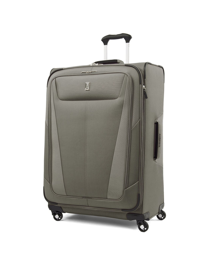 "Travelpro maxlite 5 29"" exp spinner slate green colour luggage bag front view"