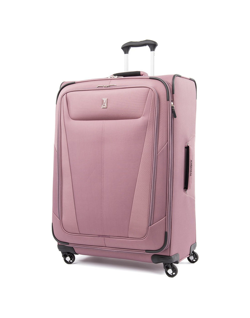 "Travelpro maxlite 5 29"" exp spinner dusty rose colour luggage bag front view"