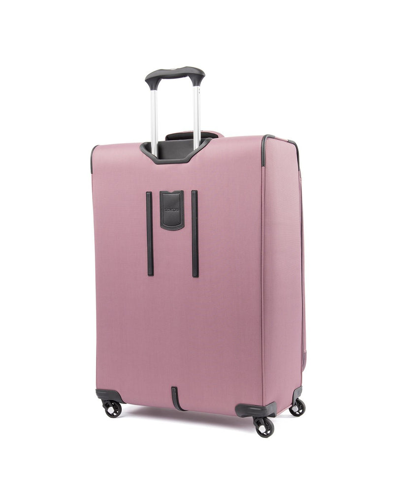 "Travelpro maxlite 5 29"" exp spinner dusty rose colour luggage bag back view"