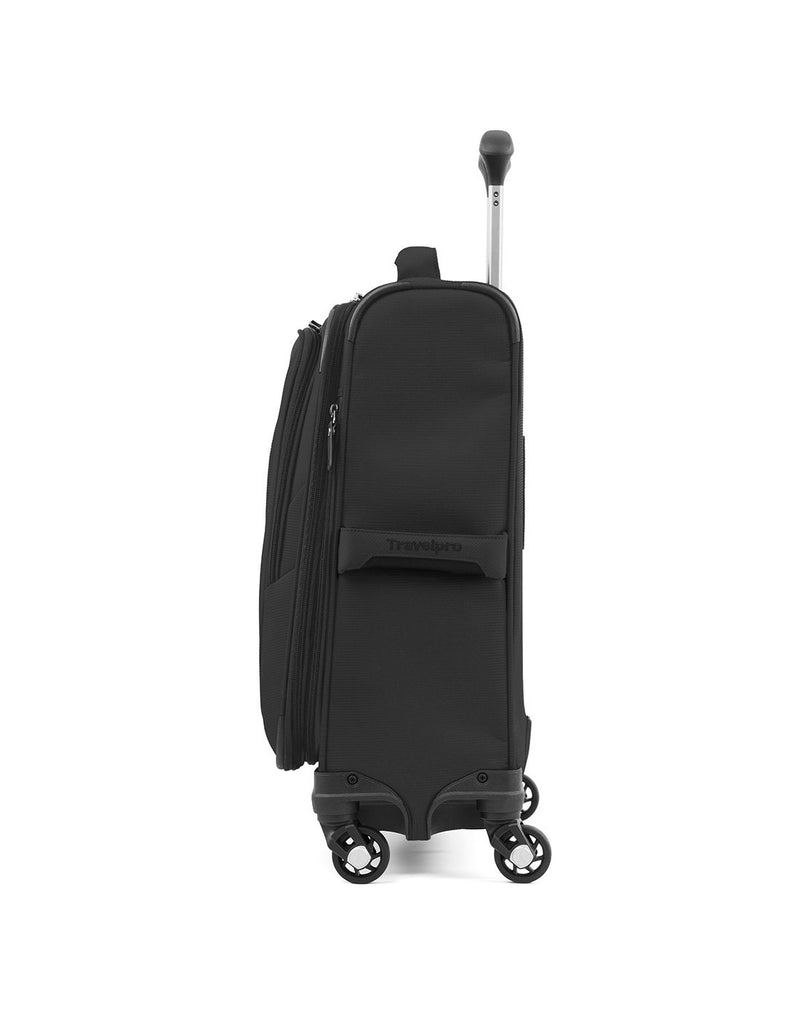 "Travelpro maxlite 5 19"" intl spinner black colour luggage bag side view"