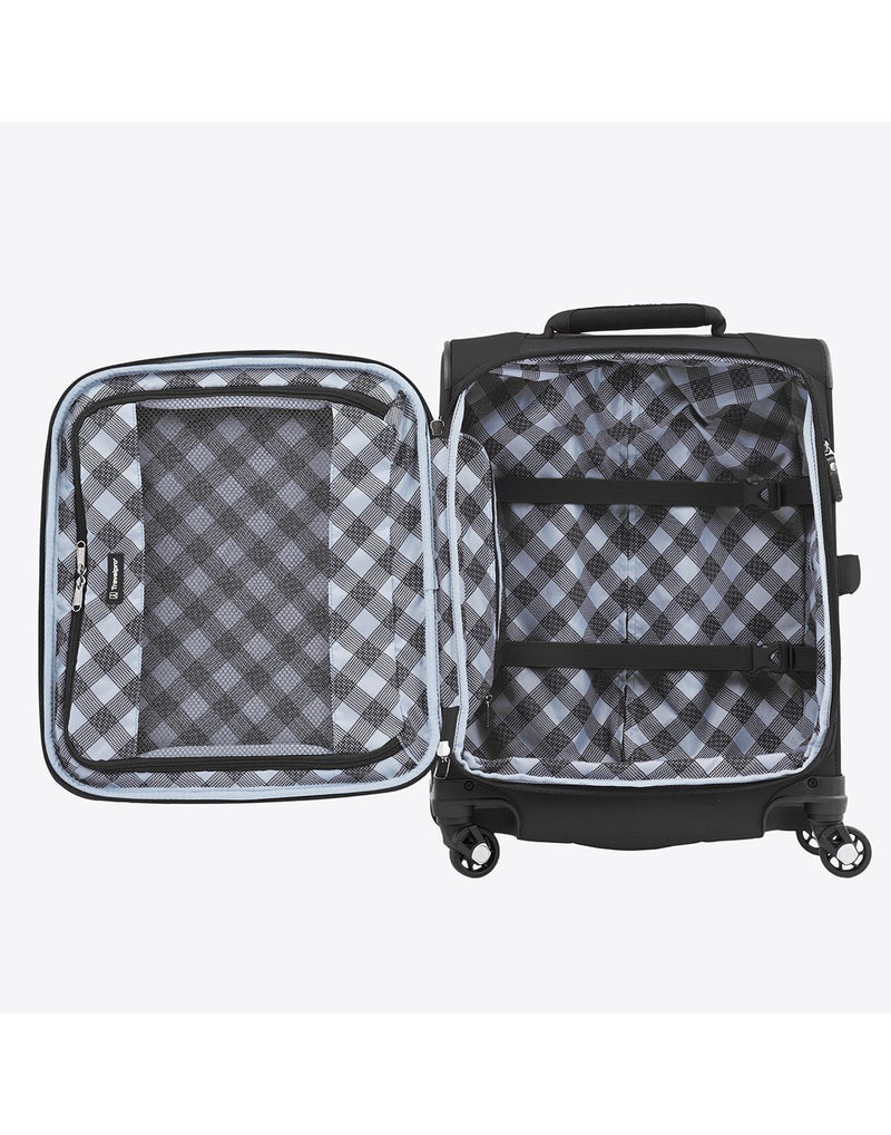 "Travelpro maxlite 5 19"" intl spinner black colour luggage bag interior"