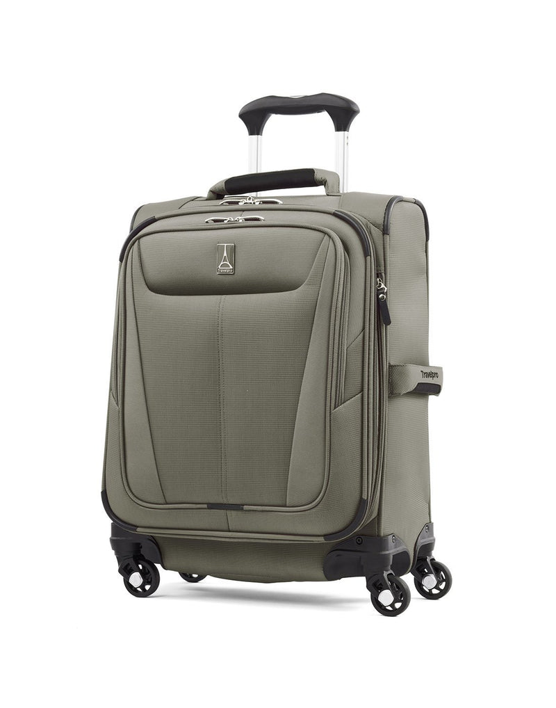 "Travelpro maxlite 5 19"" intl spinner slate green colour luggage bag front view"