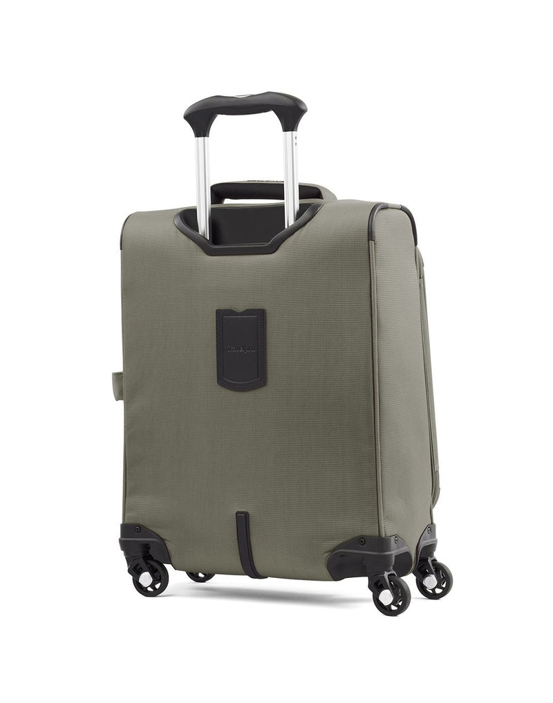 "Travelpro maxlite 5 19"" intl spinner slate green colour luggage bag back view"