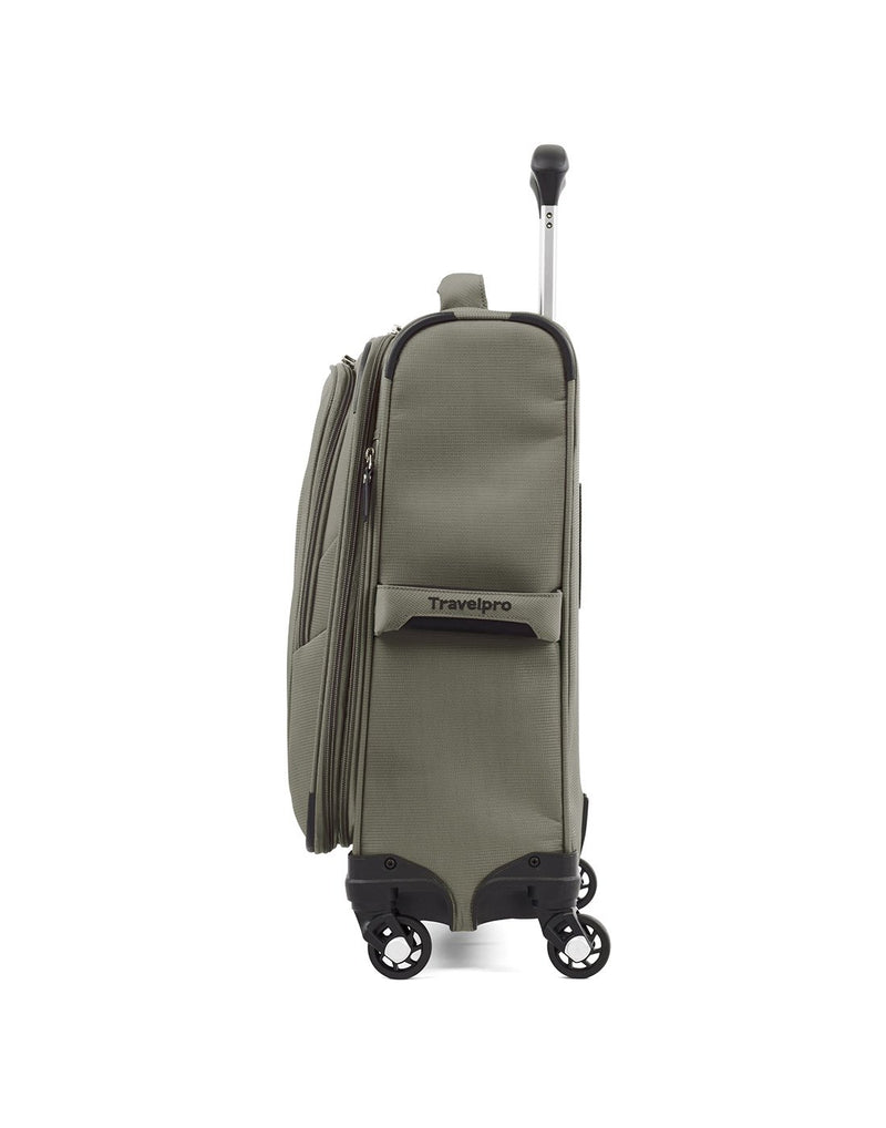 "Travelpro maxlite 5 19"" intl spinner slate green colour luggage bag side view"