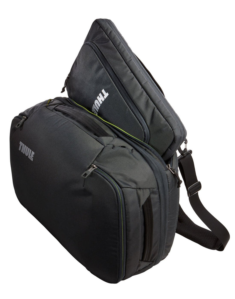 Thule subterra carry-on 40L dark shadow colour bag removable sleeve