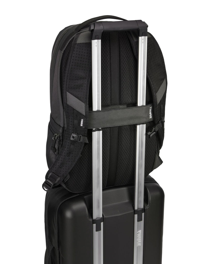 Thule subterra 23L dark shadow colour backpack on luggage bag