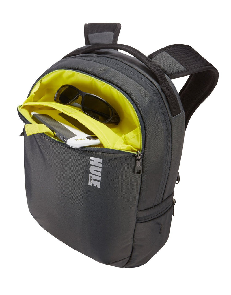 Thule subterra 23L dark shadow colour backpack front pocket