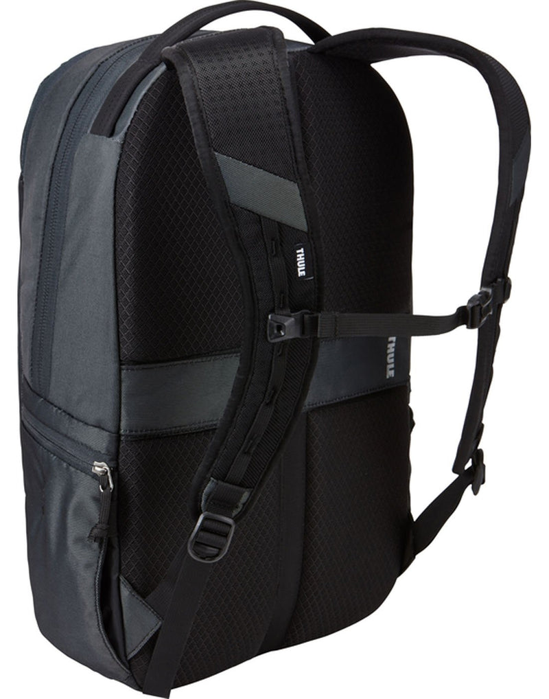 Thule subterra 23L dark shadow colour backpack back view