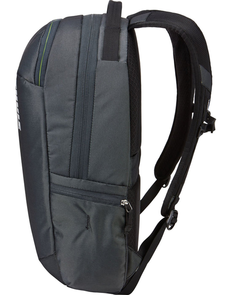 Thule subterra 23L dark shadow colour backpack side view