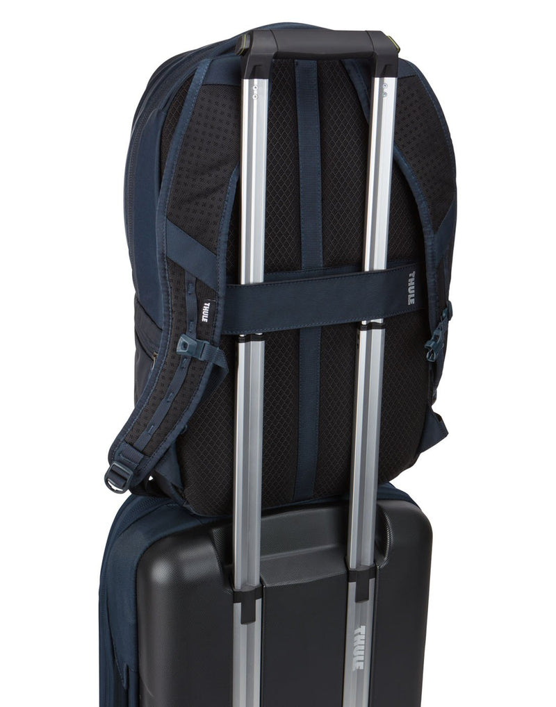 Thule subterra 23L mineral colour backpack on luggage bag