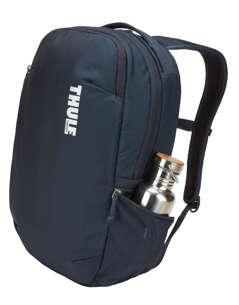 Thule subterra 23L mineral colour backpack corner view