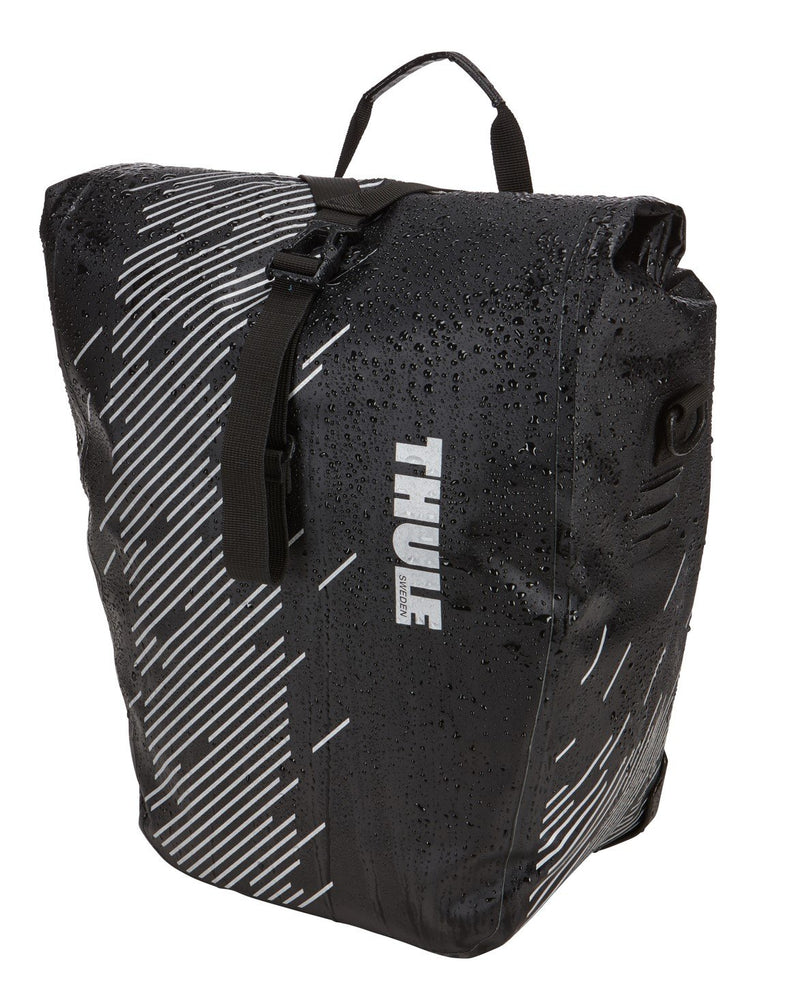 Thule shield pannier bike bags front view