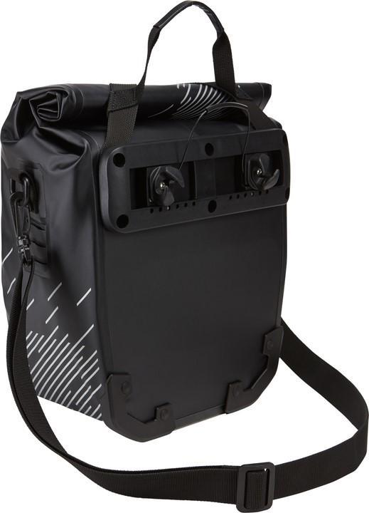 Thule shield pannier bike bags back view