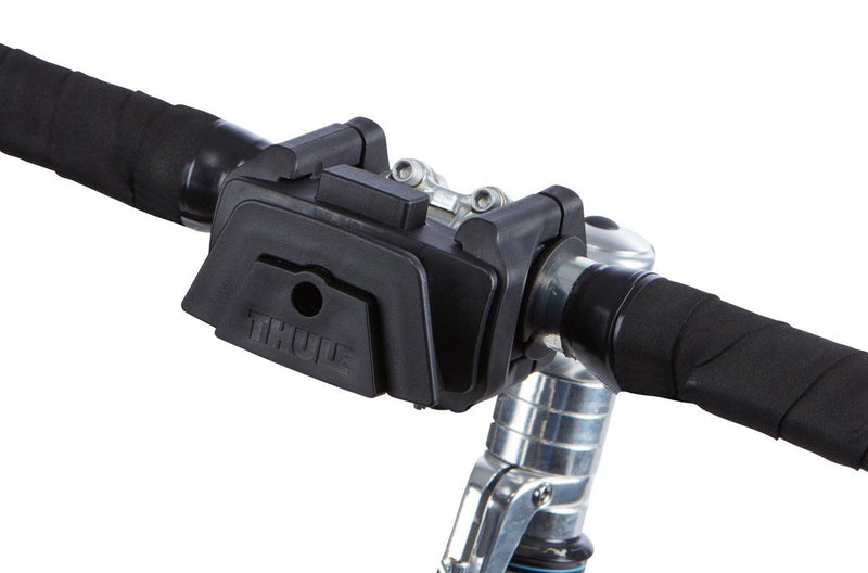Thule single handlebar bike mount front view