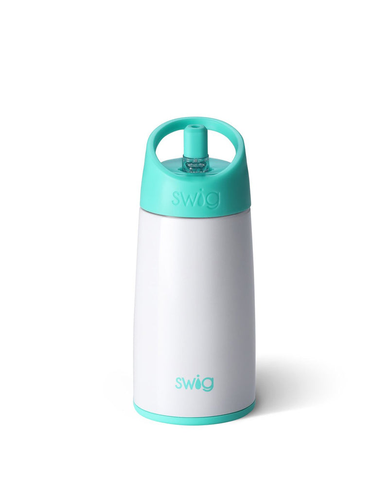 Swig kids 12 oz bottle - diamond white back view