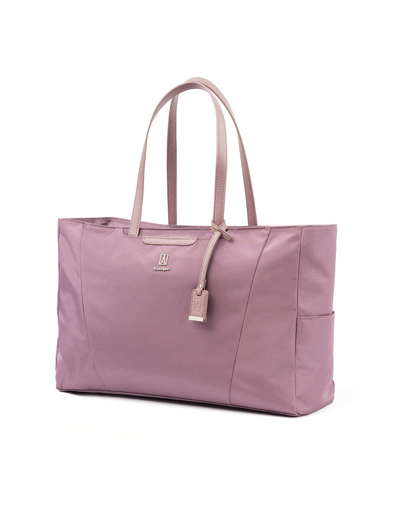 Travelpro maxlite 5 women's dusty rose colour tote front view