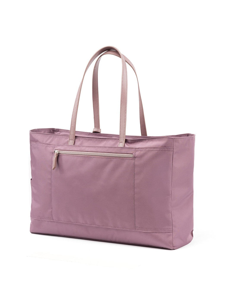 Travelpro maxlite 5 women's dusty rose colour tote back view