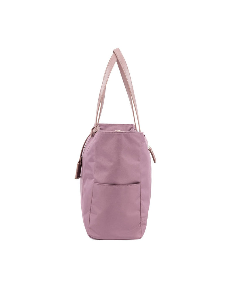 Travelpro maxlite 5 women's dusty rose tote colour side view