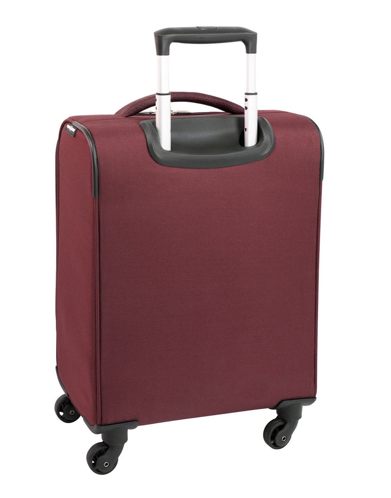 Swiss gear excursion carry-on spinner maroon colour luggage bag back view