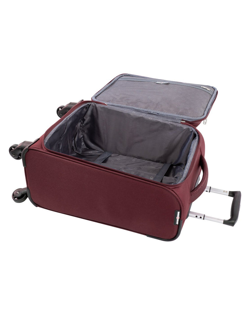 Swiss gear excursion carry-on spinner maroon colour luggage bag interior