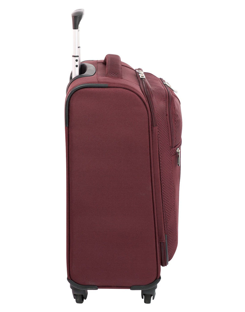 Swiss gear excursion carry-on spinner maroon colour luggage bag right side view