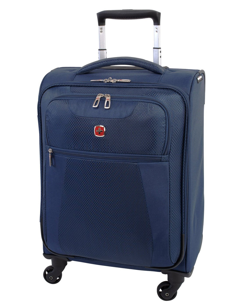 Swiss gear excursion carry-on spinner navy colour luggage bag front view