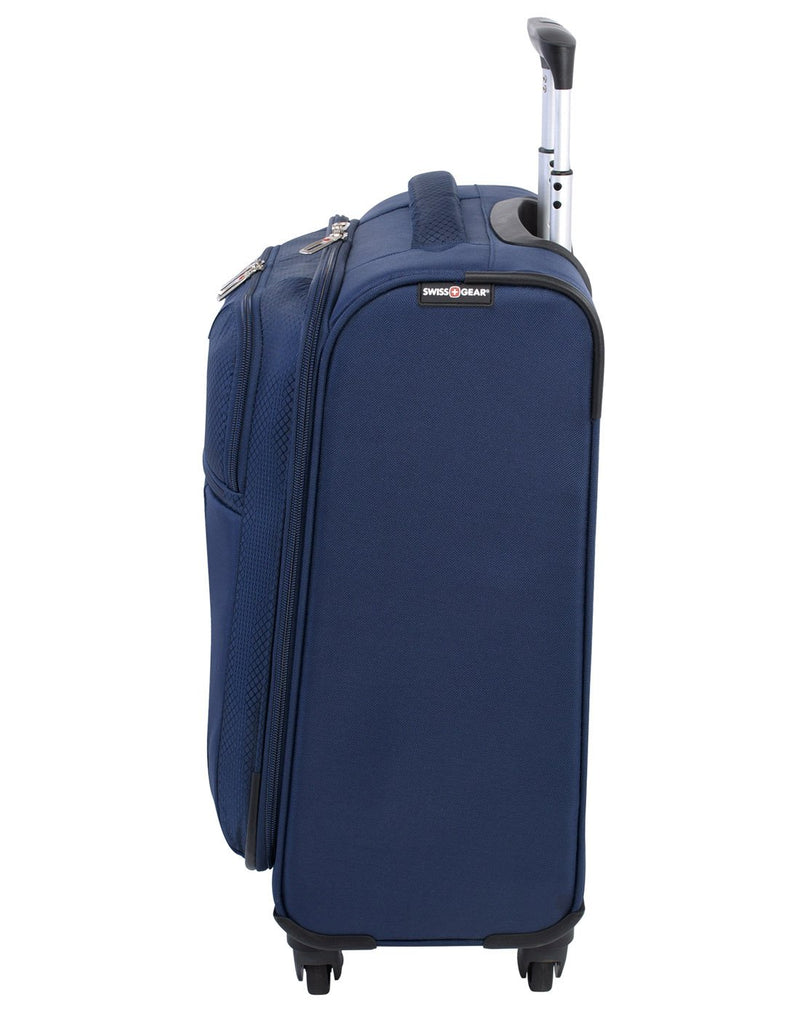 Swiss gear excursion carry-on spinner navy colour luggage bag left side view