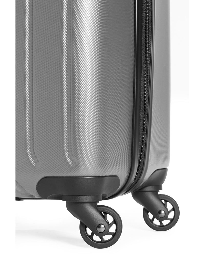 Swiss gear carry-on spinner with cup holder - silver colour luggage bag wheels