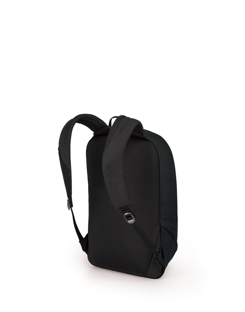 Osprey arcane large daypack black colour backpack back view