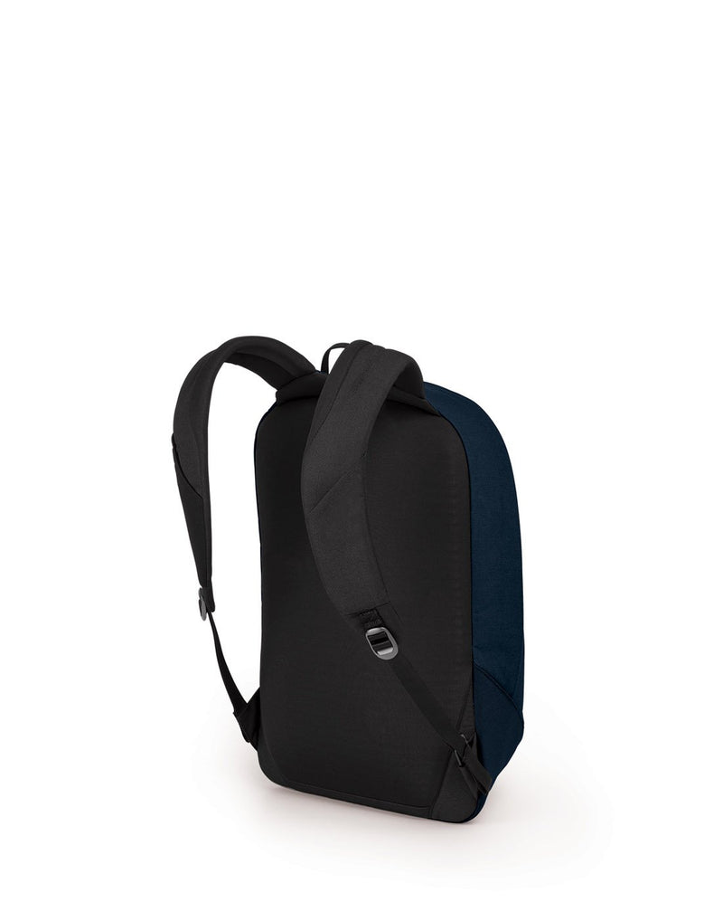Osprey arcane large daypack dark blue colour backpack back view