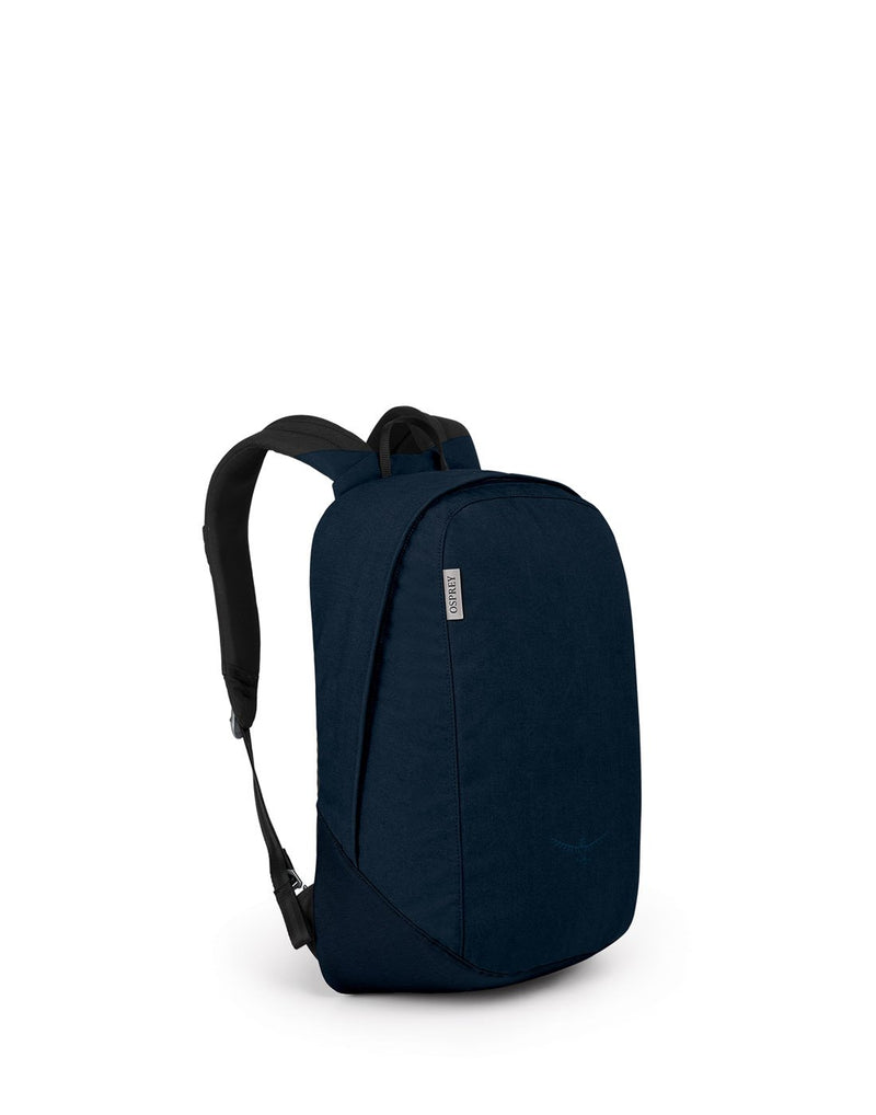 Osprey arcane large daypack dark blue colour backpack corner view