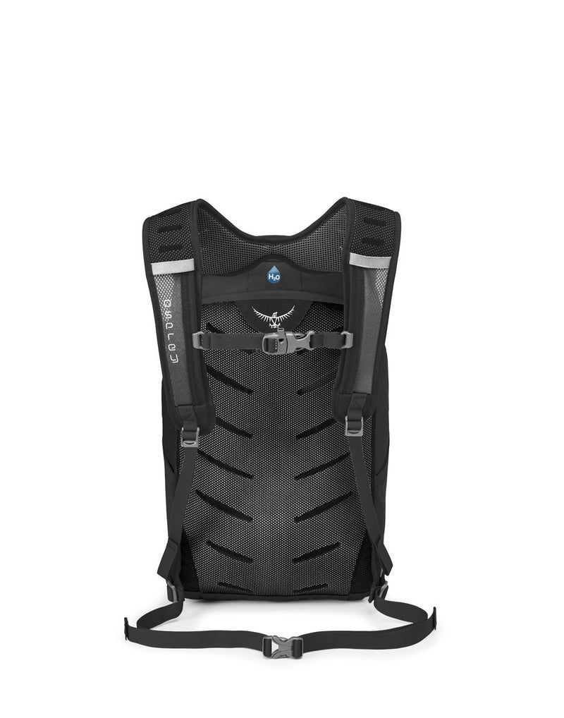 Osprey daylite plus black colour backpack back view