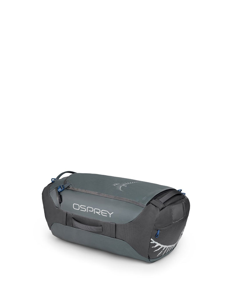 Osprey transporter 65 expedition pointbreak grey colour duffle bag right side view
