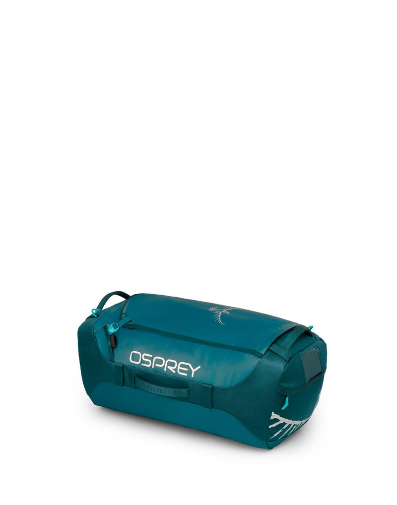 Osprey transporter 65 expedition westwind teal colour duffle bag right side view