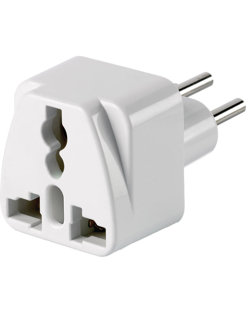 Go travel woldwide grounded adapter front corner view