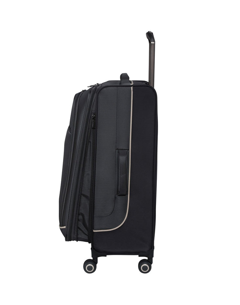 "It encircle 31"" spinner grey colour luggage bag side view"