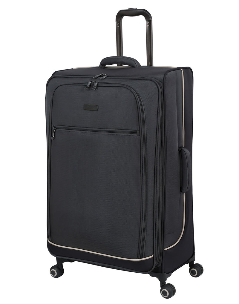 "It encircle 31"" spinner grey colour luggage bag front view"
