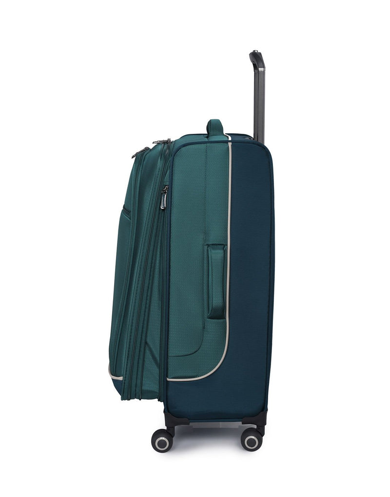 "It encircle 31"" spinner teal blue colour luggage bag side view"