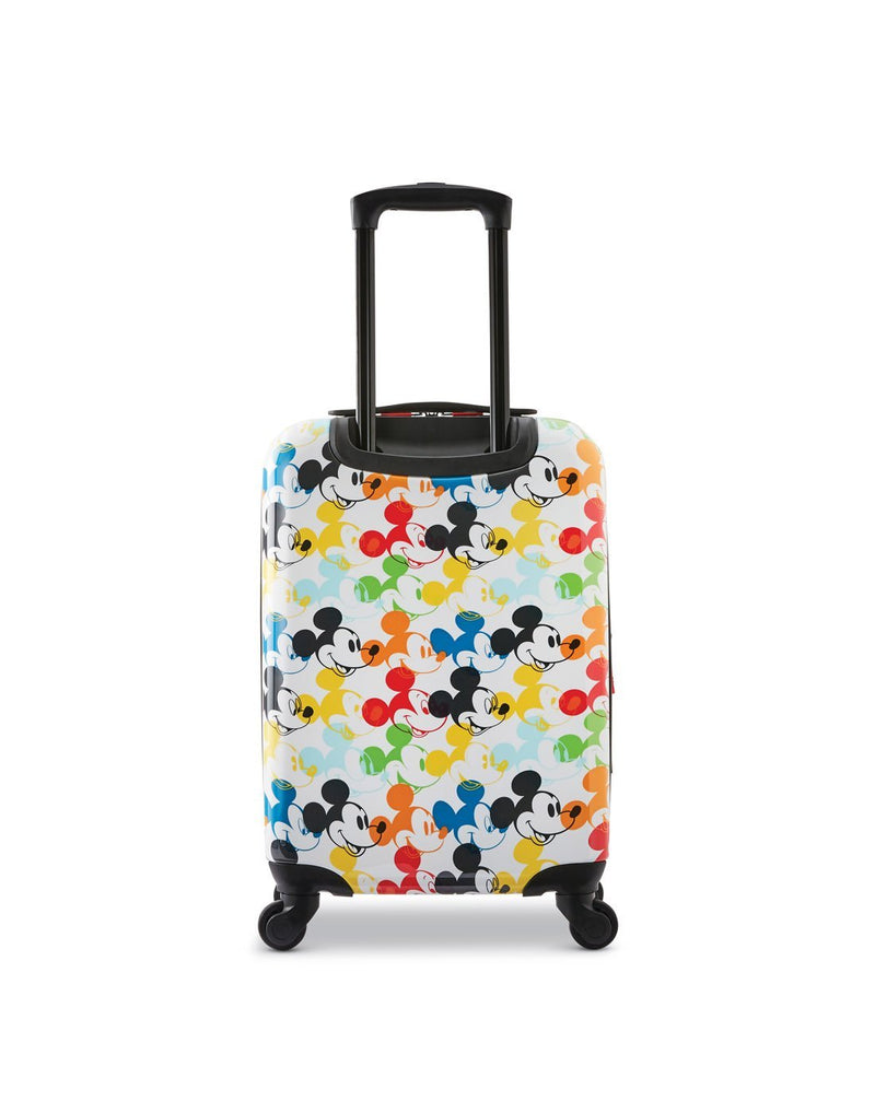 Disney roll aboard 2pc set luggage bag four wheels back view