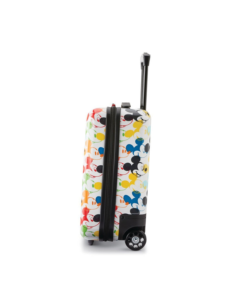 Disney roll aboard 2pc set luggage bag two wheels right side view