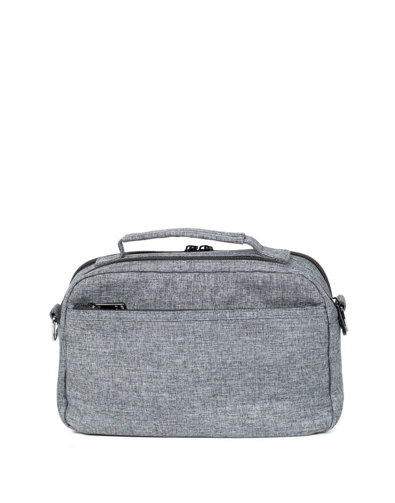 Lug scoop heather grey colour crossbody purse back view