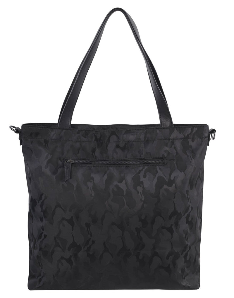 Bench camoflage black colour tote back view