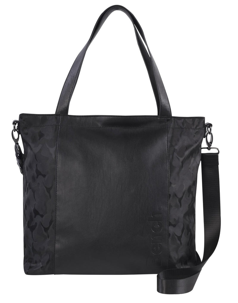 Bench camoflage black colour tote front view