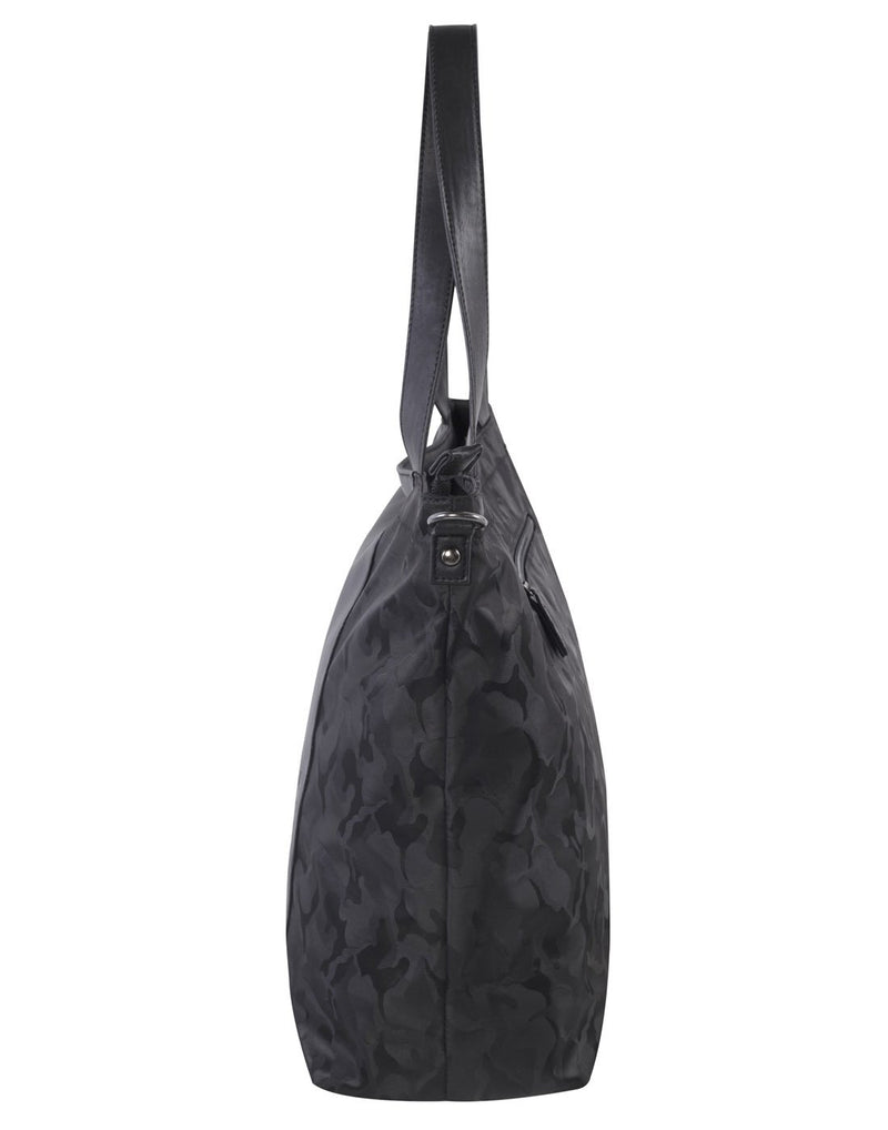 Bench camoflage black colour tote left side view
