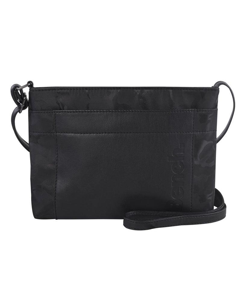 Bench camoflage mini crossbody black colour purse front view